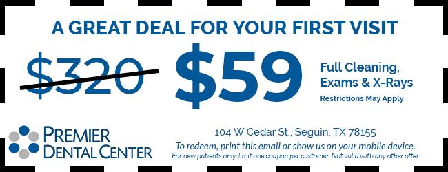 Premier Dental Center Seguin $59 Coupon